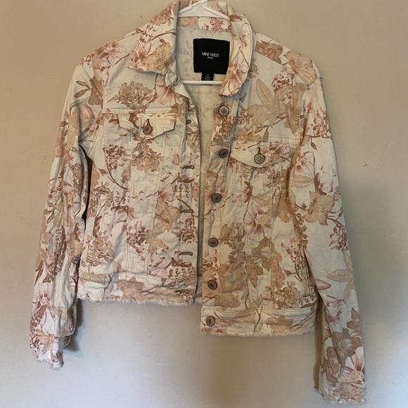Nine West floral denim jacket